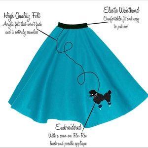 Skip Hop 50's Shop Poodle Skirt Rockabilly costume